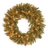 30 in Pre-Lit Glitter Pine Artificial Wreath