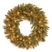 30-in. Pre-Lit Glitter Pine Artificial Wreath