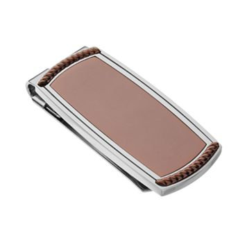 Two Tone Stainless Steel Money Clip