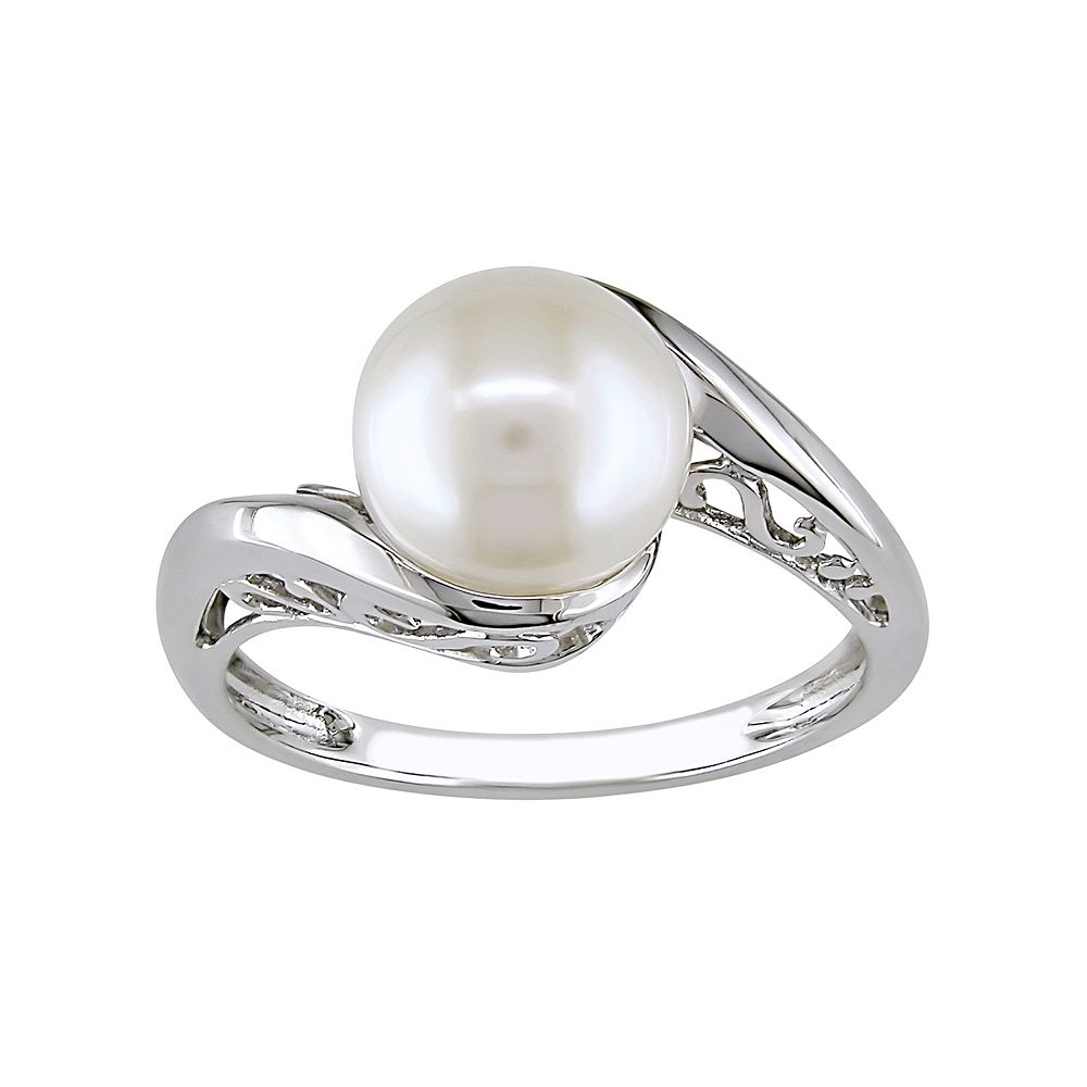 1a82cfa32 Stella Grace 10k White Gold Freshwater Cultured Pearl Bypass Ring