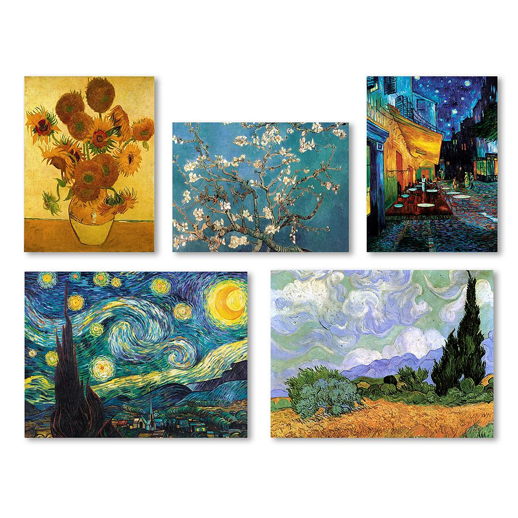 Trademark Fine Art Vincent Van Gogh 5-piece Canvas Wall Art Set