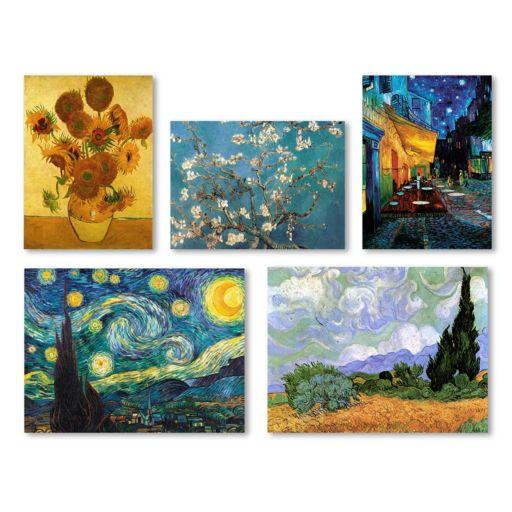Trademark Fine Art Vincent Van Gogh 5-piece Canvas Wall Art Set