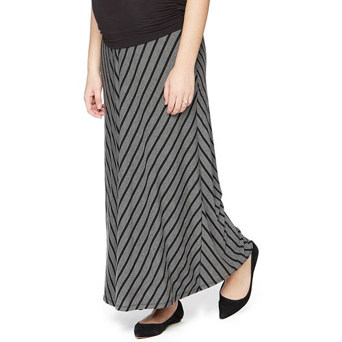c7bd54552 Maternity Oh Baby by Motherhood™ Secret Fit Belly™ Striped Maxi Skirt