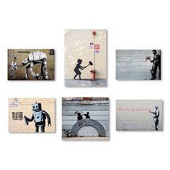 Trademark Fine Art Banksy 6-piece Canvas Wall Art Set