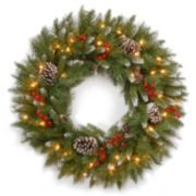 30-in. Pre-Lit Artificial Frosted Berry Wreath
