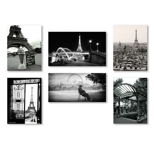 Trademark Fine Art ''Paris'' 6-piece Canvas Wall Art Set