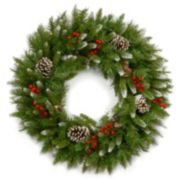 24-in. Artificial Frosted Berry Wreath