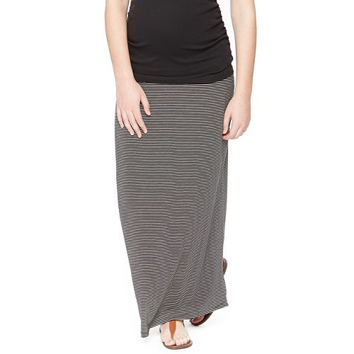 98cfd47dec Maternity Oh Baby by Motherhood™ Secret Fit Belly™ Striped Maxi Skirt