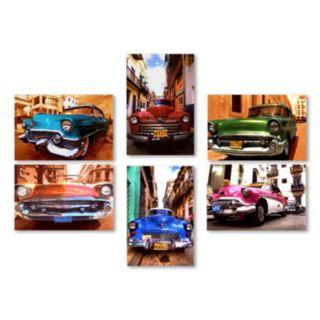 Trademark Fine Art ''Classic Cars'' 6-piece Canvas Wall Art Set
