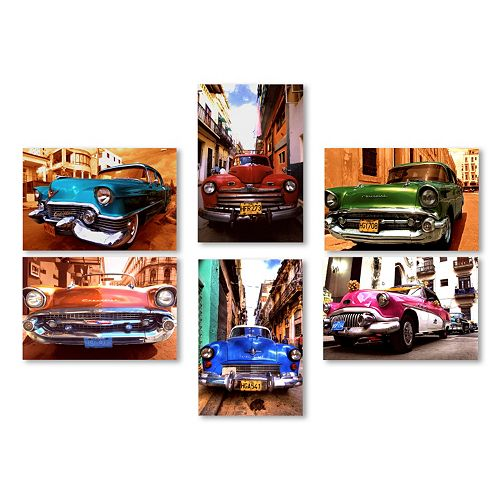 Trademark Fine Art ''Classic Cars'' 6-piece Canvas Wall Art Set