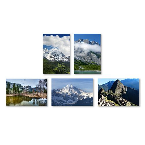 Trademark Fine Art ''Mountain Ranges'' 5-piece Canvas Wall Art Set
