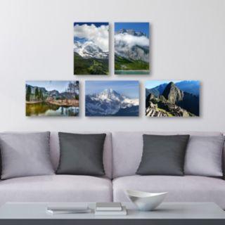 Trademark Fine Art ''Mountain Ranges'' 5-piece Canvas Wall Art Set