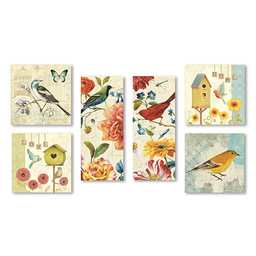 Trademark Fine Art ''Wild Birds'' 6-piece Canvas Wall Art Set