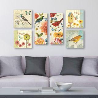 Trademark Fine Art ''Wild Birds'' 6-piece Canvas Wall Art Set