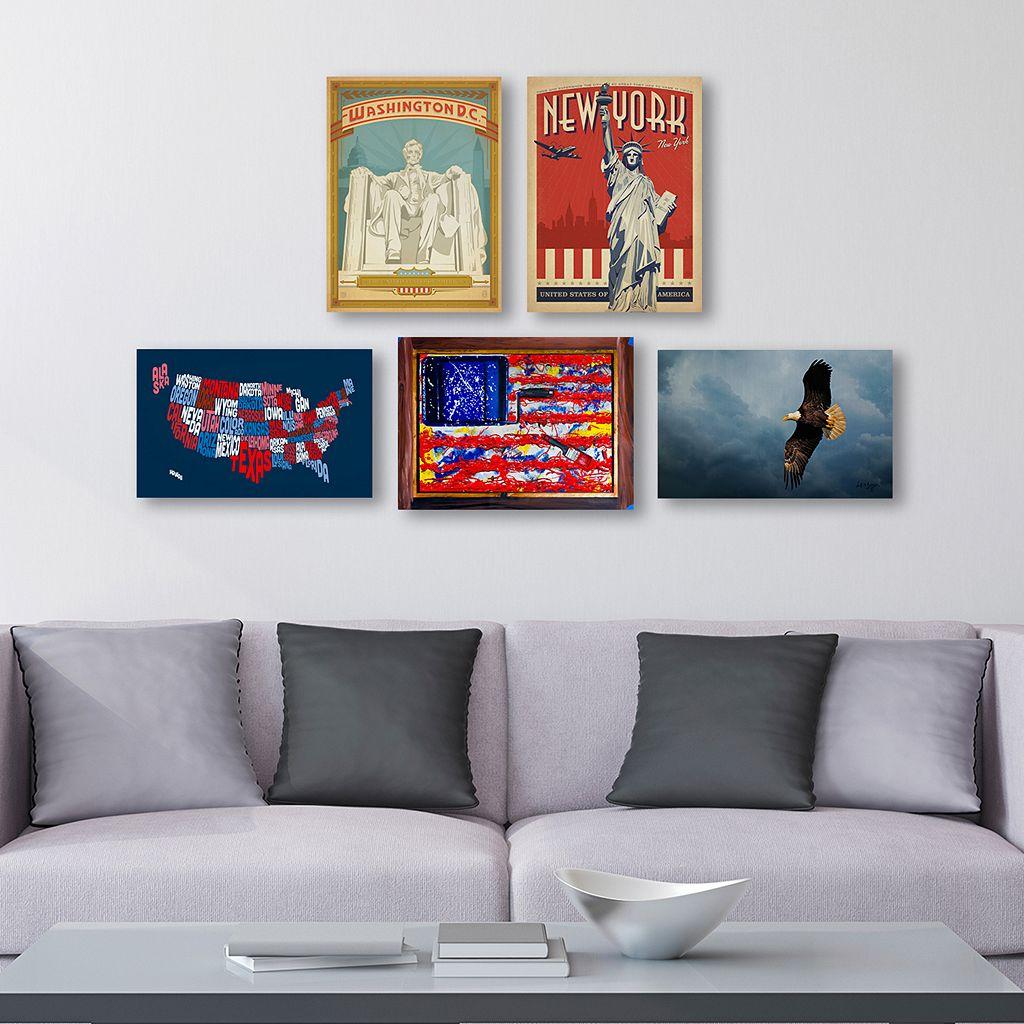 Trademark Fine Art ''All American'' 5-piece Canvas Wall Art Set