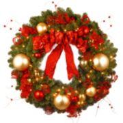36-in. Pre-Lit Artificial Decorative Collection Cozy Christmas Wreath