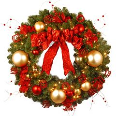 36-in. Pre-Lit Artificial Decorative Collection Cozy Christmas Wreath