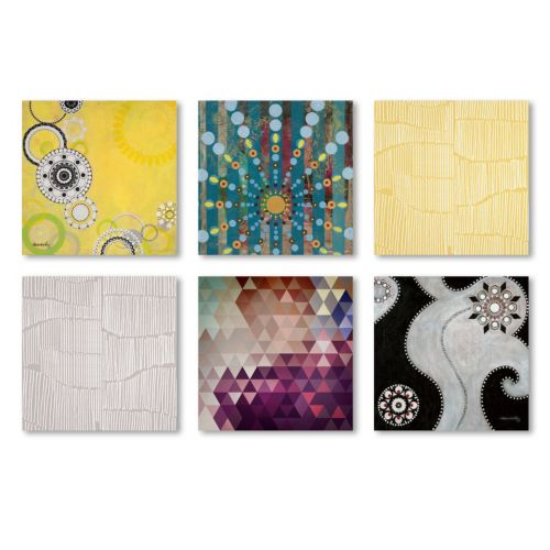 """Trademark Fine Art """"Abstract"""" 6-piece Canvas Wall Art Set"""