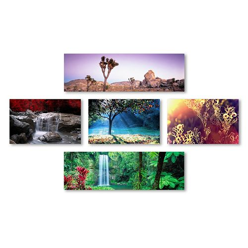 Trademark Fine Art ''Nature'' Canvas Wall Art Set
