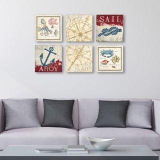 Trademark Fine Art ''Aquatic'' Canvas Wall Art Set