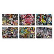 Trademark Fine Art Dan Monteavaro 6 pc Canvas Wall Art Set