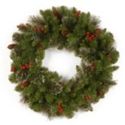 24-in. Glitter Berry, Bristle & Pinecone Crestwood Spruce Wreath