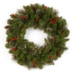 24-in. Glitter Berry, Bristle & Pinecone Crestwood Spruce Wreath