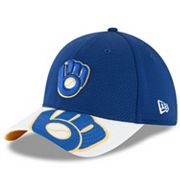Adult New Era Milwaukee Brewers 9FORTY Duel Logo Snapback Cap