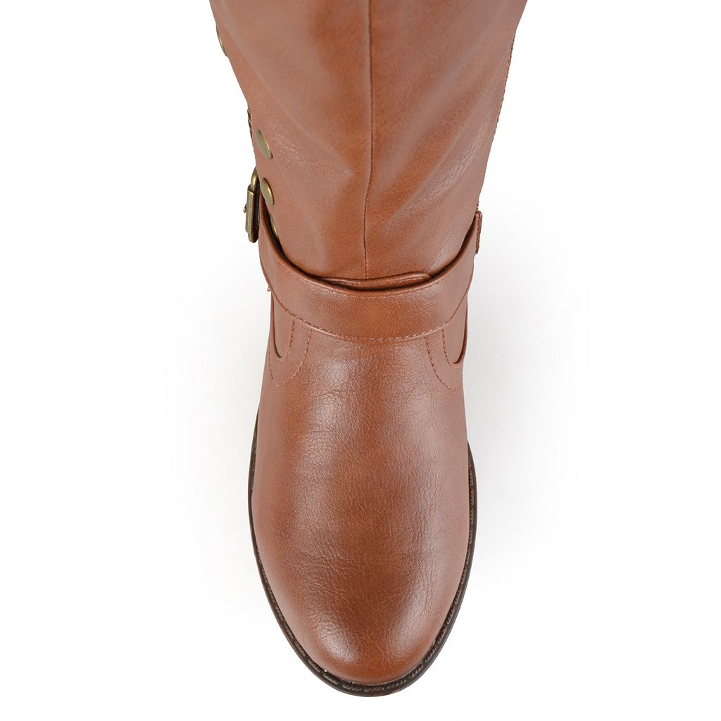 Journee Collection Women's Studded Knee-High Riding Boots