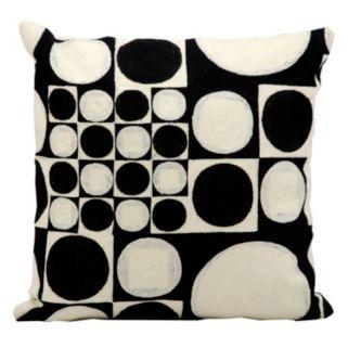 Kathy Ireland Circles & Squares Throw Pillow
