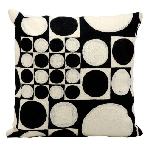 Kathy Ireland Circles & Squares Throw Pillow