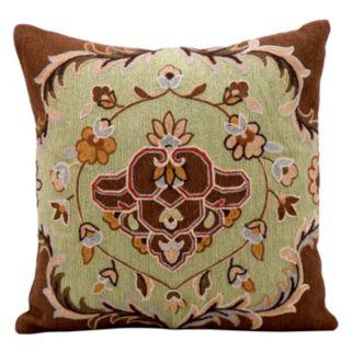 Kathy Ireland Pistachio Floral Throw Pillow