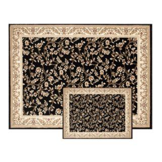 Classique Framed Floral 2-pc. Rug Set