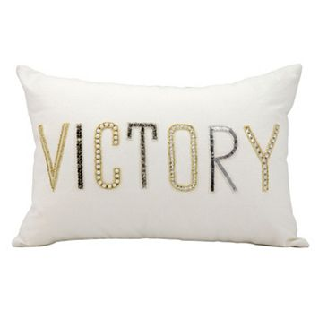 Kathy Ireland ''Victory'' Beaded Throw Pillow