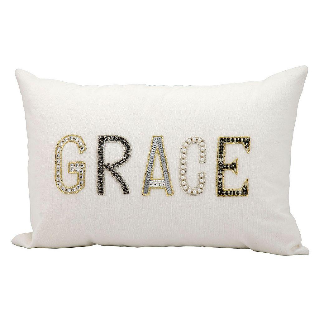 Kathy Ireland ''Grace'' Beaded Throw Pillow