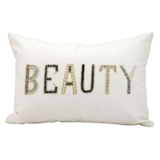 Kathy Ireland ''Beauty'' Beaded Throw Pillow