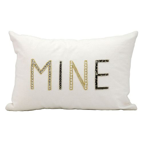 Kathy Ireland ''Mine'' Beaded Throw Pillow