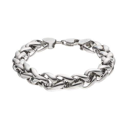 FOCUS FOR MEN Stainless Steel Wheat Chain Bracelet