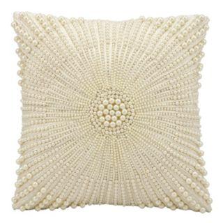 Kathy Ireland Beaded Throw Pillow
