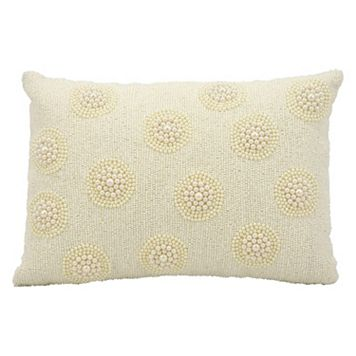 Kathy Ireland Beaded Medallion Throw Pillow