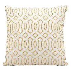 Kathy Ireland Beaded Trellis Throw Pillow