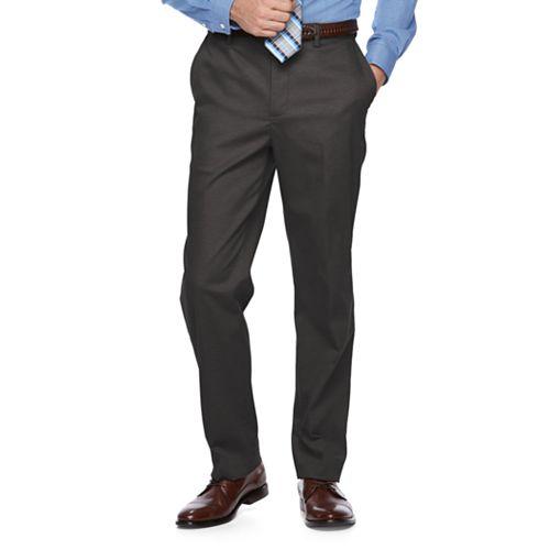 Men's Croft & Barrow® Classic-Fit Flat-Front No-Iron Stretch Khaki Pants