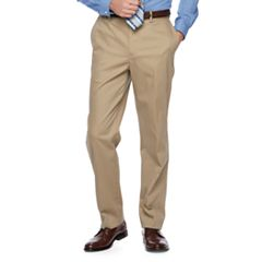 Men's Croft & Barrow® Classic-Fit Flat-Front No-Iron Stretch Khaki Pants