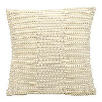 Kathy Ireland Beaded Stripe Throw Pillow
