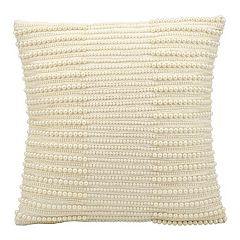 Kathy Ireland Beaded Stripe Throw Pillow