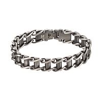 FOCUS FOR MEN Stainless Steel Railroad Bracelet