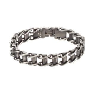FOCUS FOR MEN Stainless Steel Railroad Bracelet