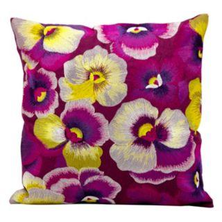 Kathy Ireland Floral Throw Pillow