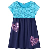 Design 365 Girls 4-6x Crochet Lace Dress