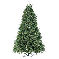 Sterling 7.5' Natural Cut LED Color Changing Dakota Pine Artificial Christmas Tree
